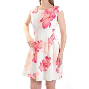 Calvin Klein Floral Pleated Fit & Flare Mini Dress